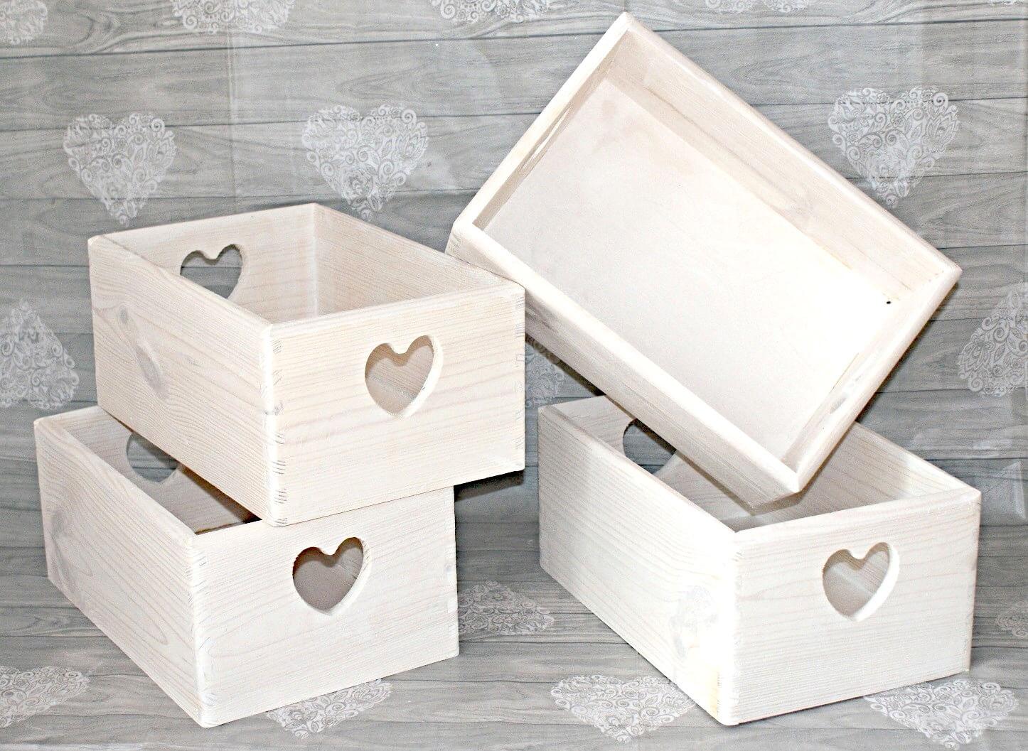 skrzynki drewniane białe